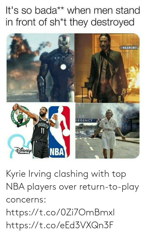 top: Kyrie Irving clashing with top NBA players over return-to-play concerns: https://t.co/0Zi7OmBmxl https://t.co/eEd3VXQn3F