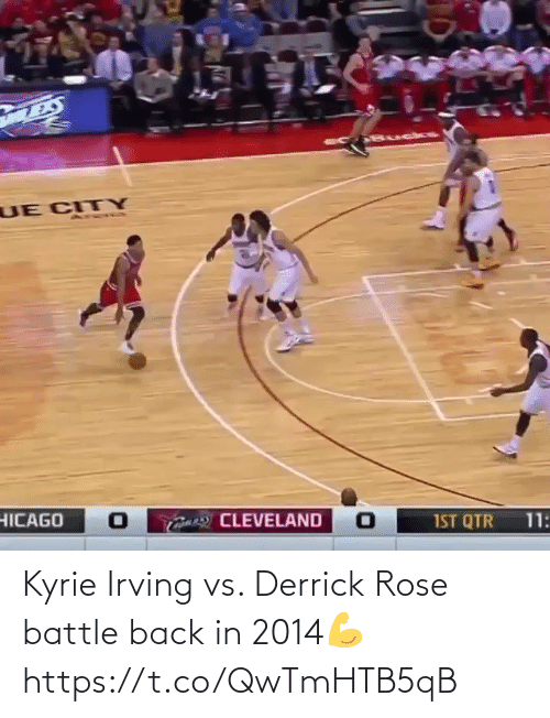 Derrick: Kyrie Irving vs. Derrick Rose battle back in 2014💪 https://t.co/QwTmHTB5qB