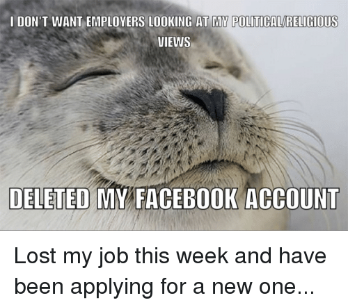 employers looking at facebook