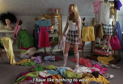 Like, Nothing, and  Wear: l have like nothing to wear
