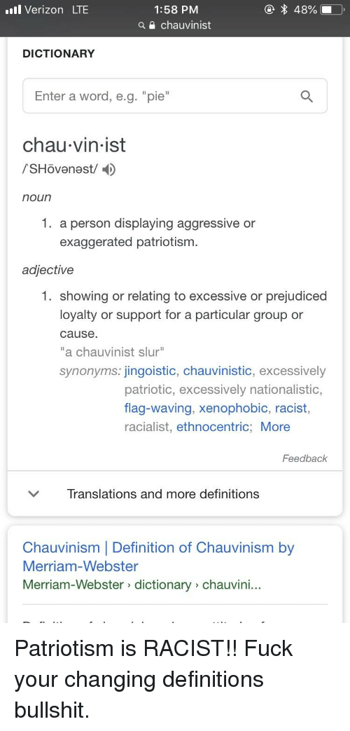 chauvinism meaning