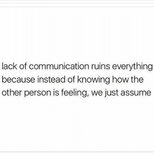 lack of communication