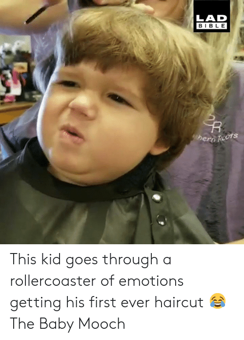 First Ever: LAD  BIBLE  hero Reots This kid goes through a rollercoaster of emotions getting his first ever haircut 😂  The Baby Mooch