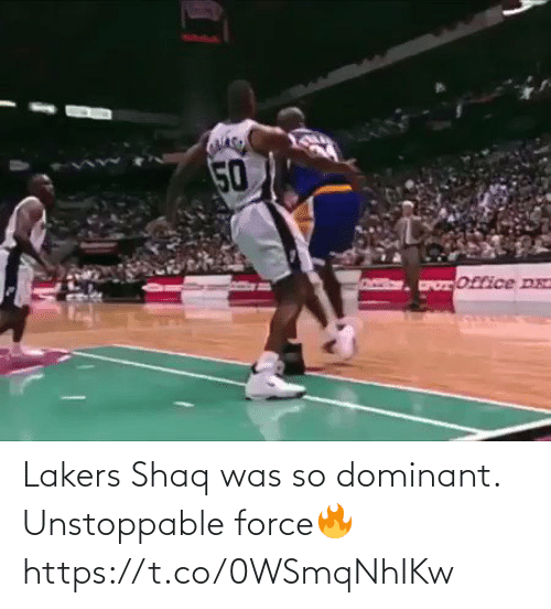 Shaq: Lakers Shaq was so dominant. Unstoppable force🔥 https://t.co/0WSmqNhIKw