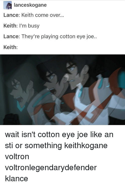 lance skogane lance keith come over keith im busy lance 14378445 lance skogane lance keith come over keith i'm busy lance they're