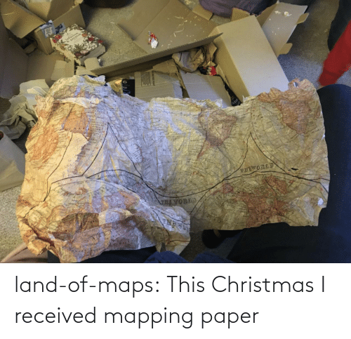 this christmas: land-of-maps:  This Christmas I received mapping paper