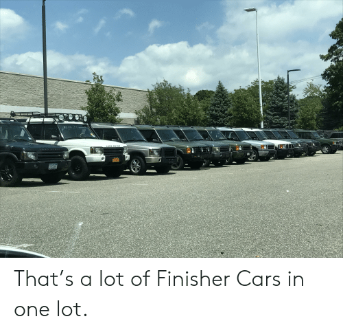 Cars, Land Rover, and One: LAND ROVER  AND ROv  JE-55 That's a lot of Finisher Cars in one lot.
