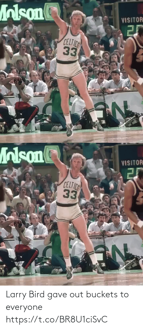 Gave: Larry Bird gave out buckets to everyone https://t.co/BR8U1ciSvC