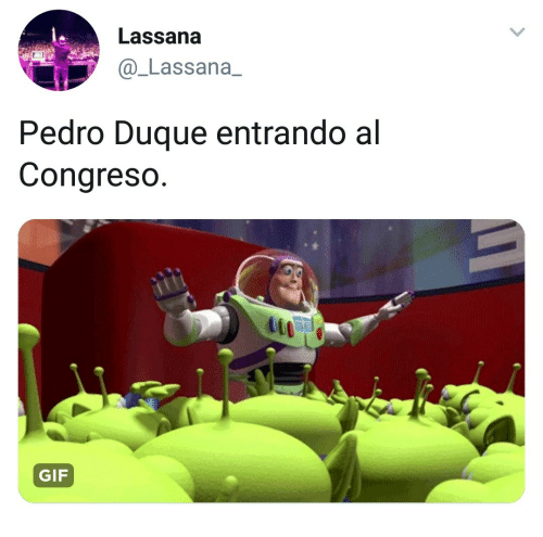 Gif, Pedro, and It-Gif: Lassana  @_Lassana_  Pedro Duque entrando al  Congreso  it  GIF