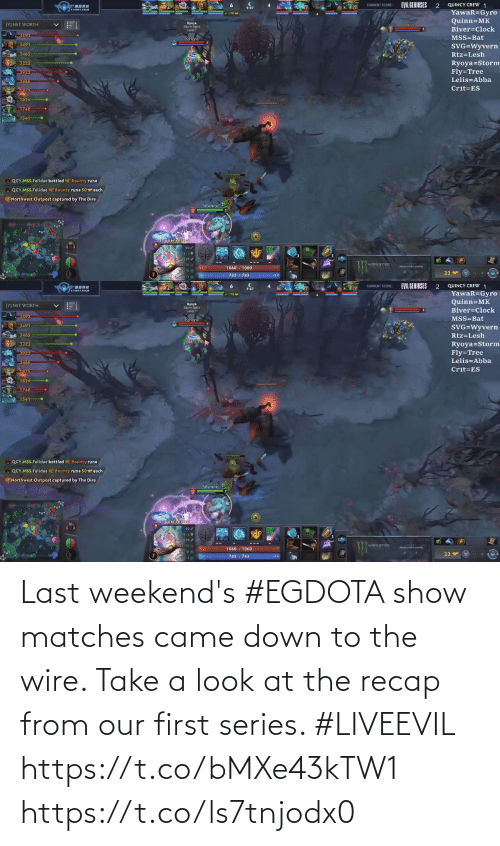 Weekends: Last weekend's #EGDOTA show matches came down to the wire. Take a look at the recap from our first series. #LIVEEVIL  https://t.co/bMXe43kTW1 https://t.co/ls7tnjodx0
