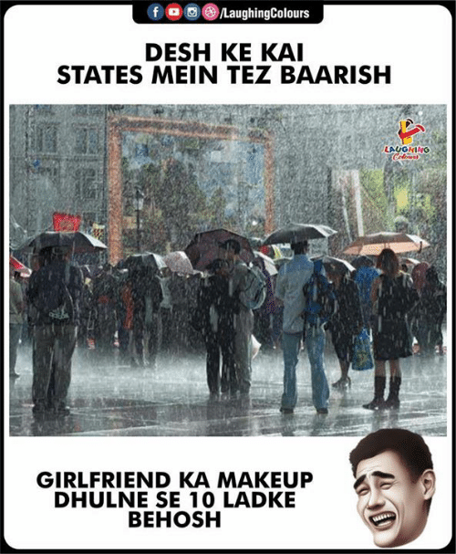 mein: LaughingColours  DESH KE KAI  STATES MEIN TEZ BAARISH  LAUGHING  Clows  GIRLFRIEND KA MAKEUP  DHULNE SE 10 LADKE  BEHOSH