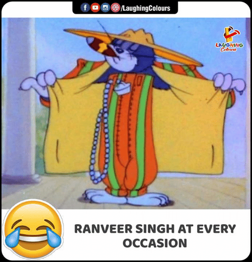 Indianpeoplefacebook, Ranveer Singh, and Singh: /LaughingColours  f  LAUGHING  Colowrs  RANVEER SINGH AT EVERY  OCCASION