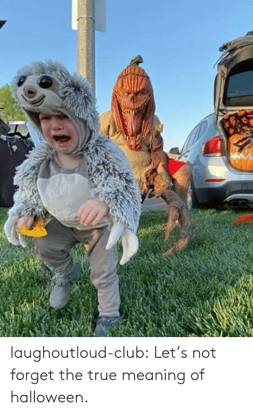 Club, Halloween, and True: laughoutloud-club:  Let's not forget the true meaning of halloween.