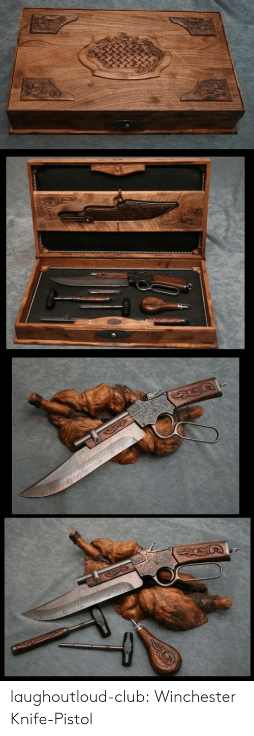 winchester: laughoutloud-club:  Winchester Knife-Pistol
