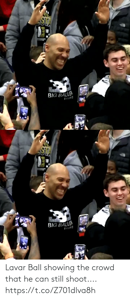 still: Lavar Ball showing the crowd that he can still shoot.... https://t.co/Z701dlva8h