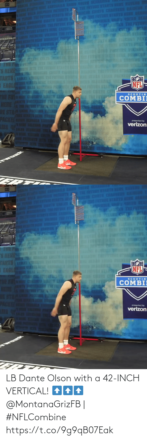 Olson: LB Dante Olson with a 42-INCH VERTICAL! ⬆️⬆️⬆️  @MontanaGrizFB | #NFLCombine https://t.co/9g9qB07Eak