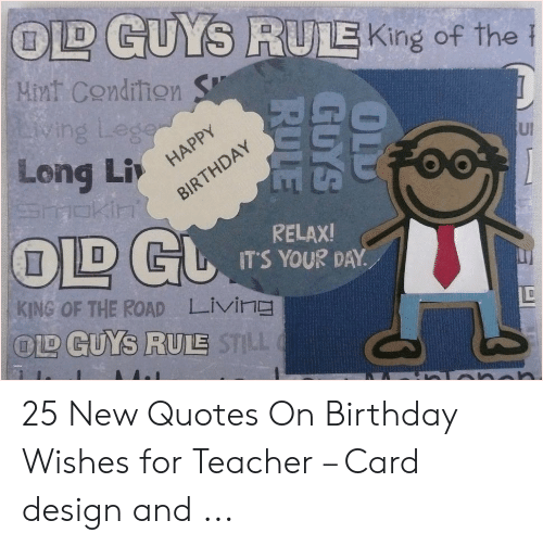 🇲🇽 25 Best Memes About Happy Birthday Teacher Meme