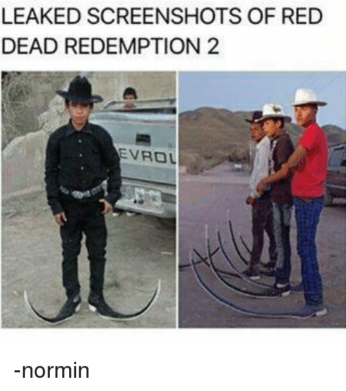 Reds, Screenshots, and Dank Memes: LEAKED SCREENSHOTS OF RED  DEAD REDEMPTION 2  EVROL -normin