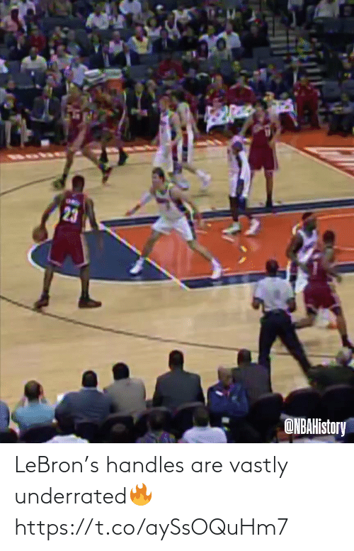 Lebron: LeBron's handles are vastly underrated🔥 https://t.co/aySsOQuHm7