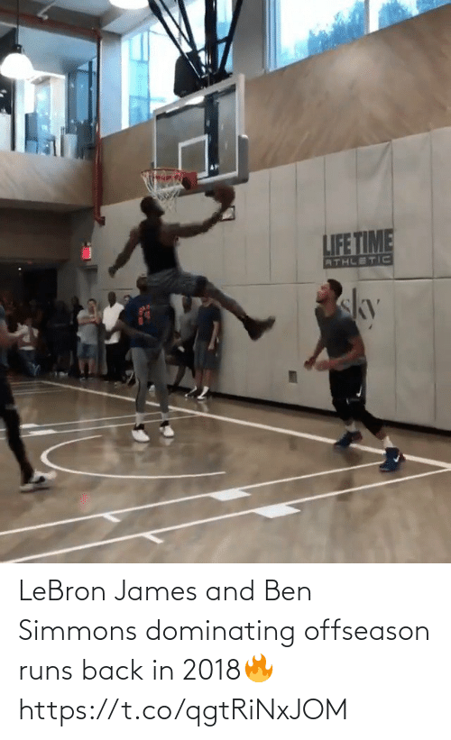 Back In: LeBron James and Ben Simmons dominating offseason runs back in 2018🔥 https://t.co/qgtRiNxJOM