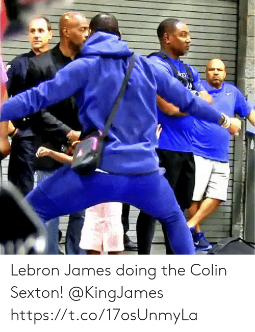 LeBron James, Memes, and Lebron: Lebron James doing the Colin Sexton! @KingJames https://t.co/17osUnmyLa