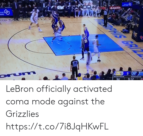 Memphis Grizzlies, Sports, and Lebron: LeBron officially activated coma mode against the Grizzlies https://t.co/7i8JqHKwFL