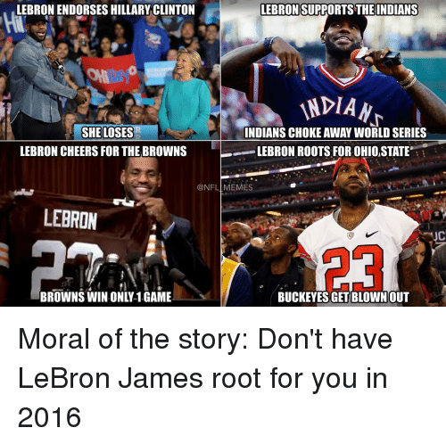 lebron supports the indians lebron endorses hillary clinton indian ndians 10386266 lebron supports the indians lebron endorses hillary clinton indian