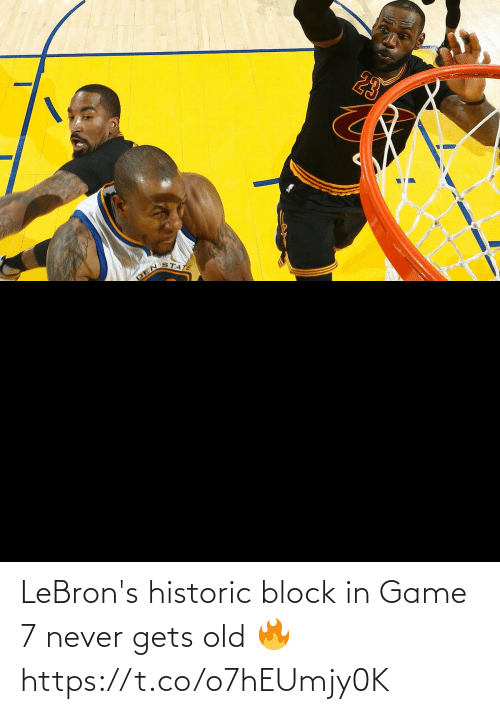 Never: LeBron's historic block in Game 7 never gets old 🔥 https://t.co/o7hEUmjy0K