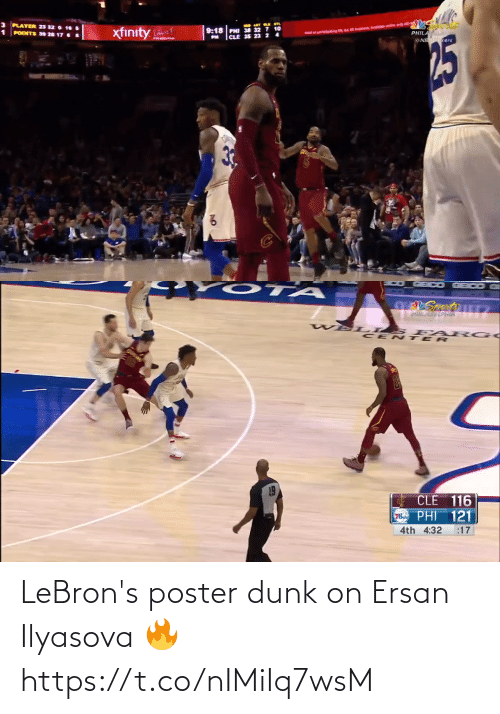 Poster: LeBron's poster dunk on Ersan Ilyasova 🔥 https://t.co/nIMiIq7wsM