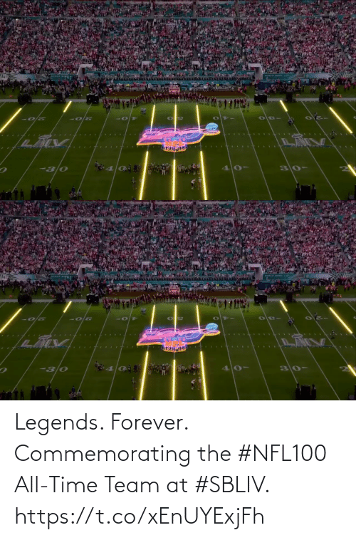 Forever: Legends. Forever.  Commemorating the #NFL100 All-Time Team at #SBLIV. https://t.co/xEnUYExjFh