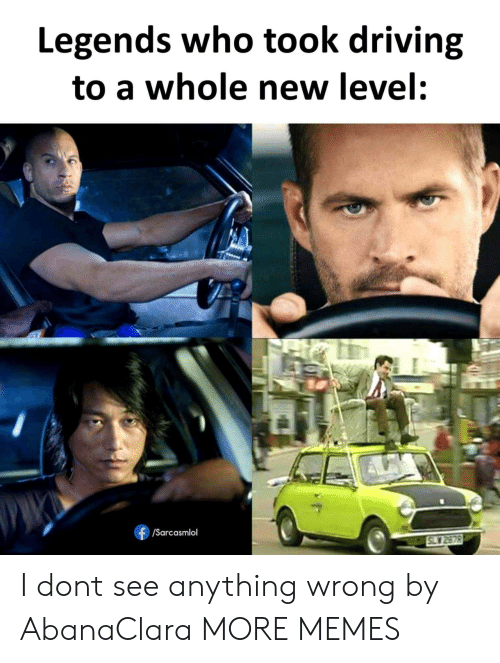 Dank, Driving, and Memes: Legends who took driving  to a whole new level:  /Sarcasmlol  SLY 2878 I dont see anything wrong by AbanaClara MORE MEMES