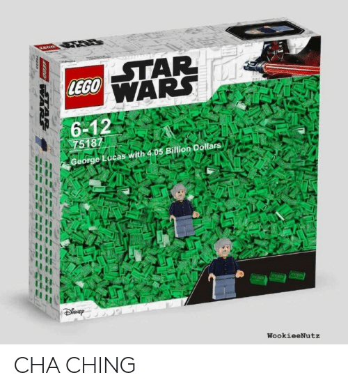 George Lucas: LEGO  6-12  75187  George Lucas with 4.05 Billion Dollars  WookieeNutz CHA CHING