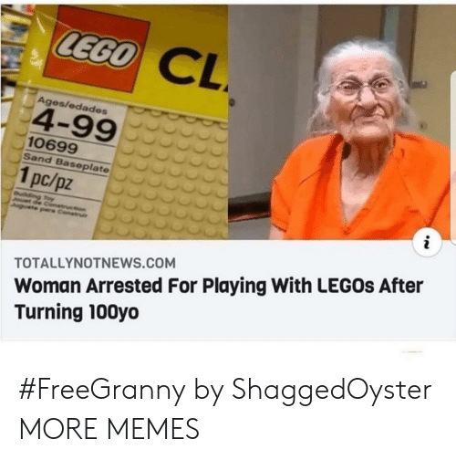 lego: LEGO  CL  Ages/edades  4-99  10699  Sand Baseplate  1pc/pz  i  uilding Toy  Jouet de Conetruction  Juguete pare Construi  Woman Arrested For Playing With LEGOS After  Turning 100yo  TOTALLYNOTNEWS.COM #FreeGranny by ShaggedOyster MORE MEMES