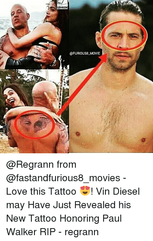 lehren ofurious8 movie from - love this tattoo 😍! vin diesel may