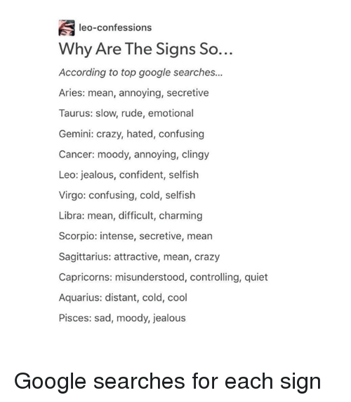 Leo-Confessions Why Are the Signs So According to Top Google