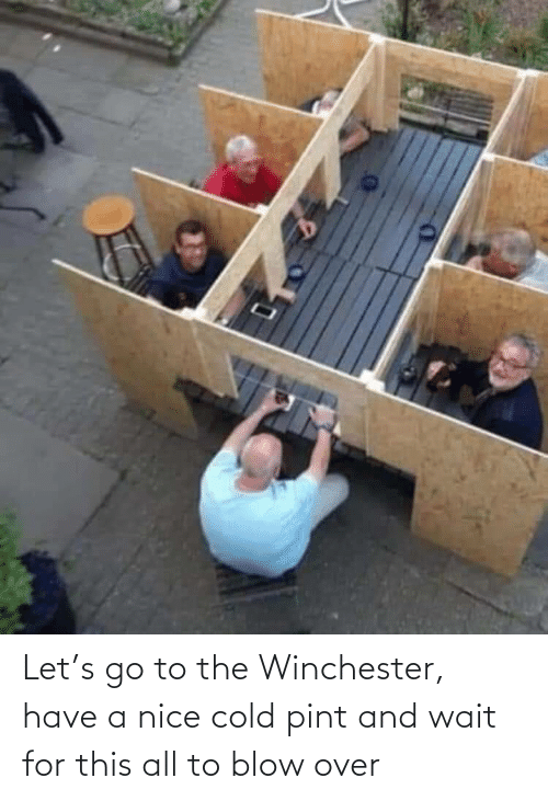 Cold: Let's go to the Winchester, have a nice cold pint and wait for this all to blow over