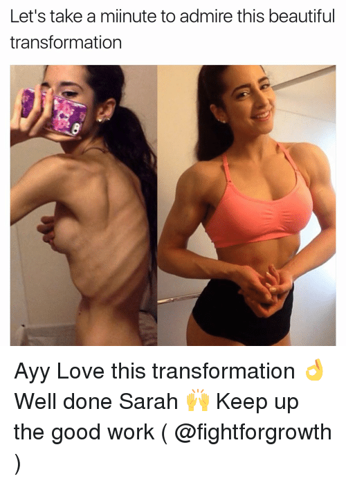 Ayys: Let's take a miinute to admire this beautiful  transformation Ayy Love this transformation 👌 Well done Sarah 🙌 Keep up the good work ( @fightforgrowth )