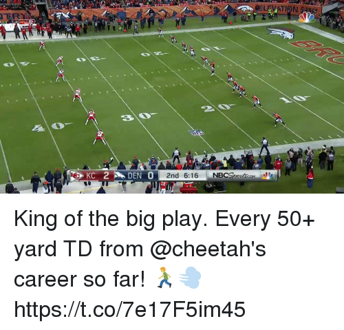 Memes, 🤖, and King: LEVATION  ER King of the big play.  Every 50+ yard TD from @cheetah's career so far! 🏃♂️💨 https://t.co/7e17F5im45