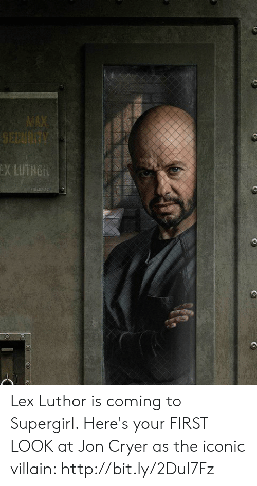 Lex Luthor: Lex Luthor is coming to Supergirl. Here's your FIRST LOOK at Jon Cryer as the iconic villain: http://bit.ly/2Dul7Fz
