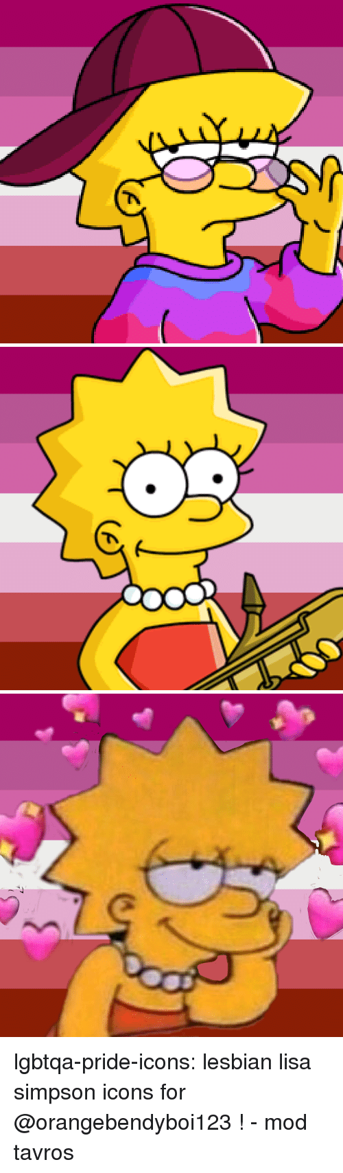 Lisa Simpson, Tumblr, and Blog: lgbtqa-pride-icons:  lesbian lisa simpson icons for @orangebendyboi123 ! - mod tavros