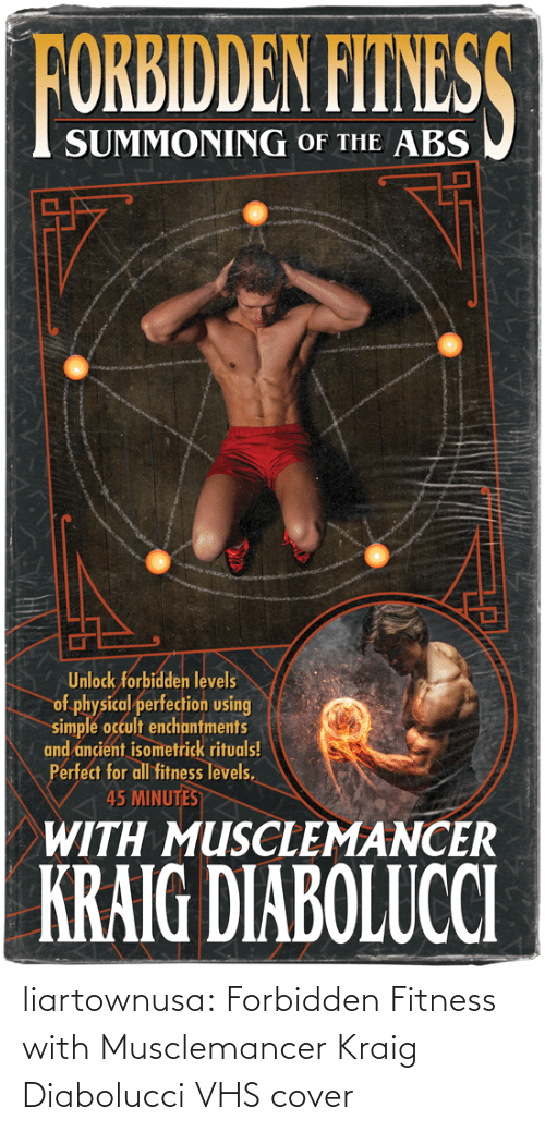 Cover: liartownusa: Forbidden Fitness with Musclemancer Kraig Diabolucci VHS cover