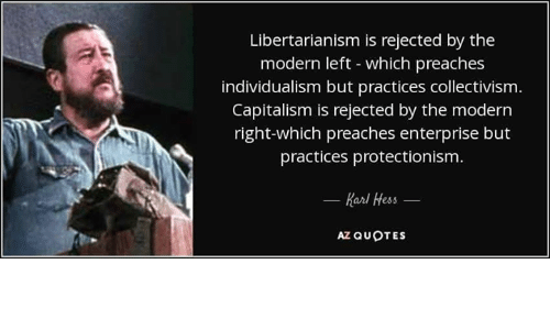 Libertarianism Is Rejected by the Modern Left Which Preaches