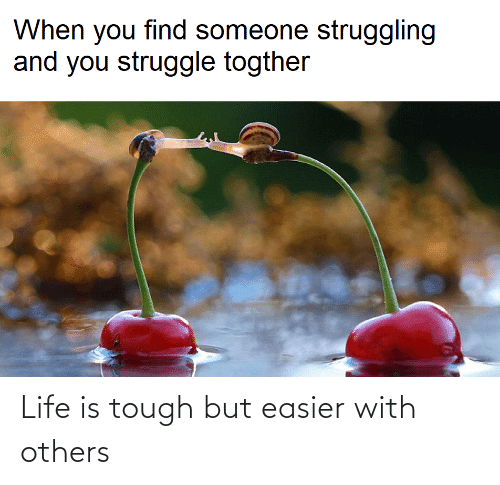 Life Is: Life is tough but easier with others