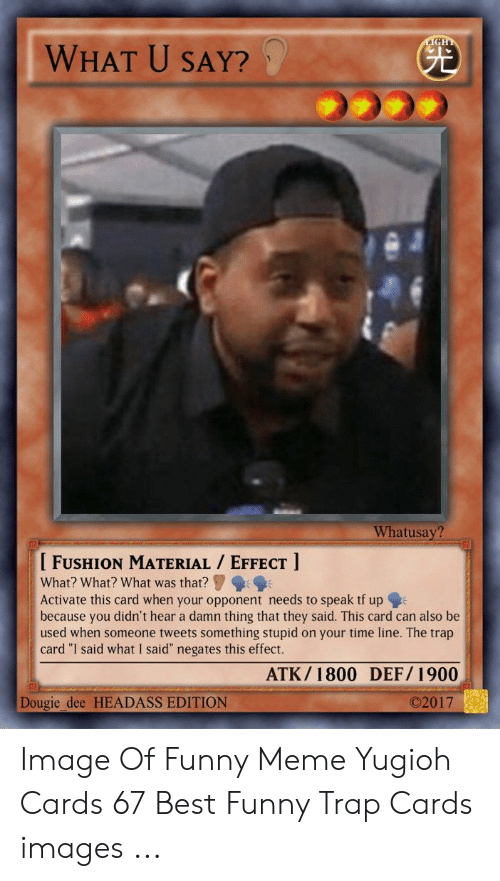 25 Best Memes About Funny Trap Cards Funny Trap Cards Memes