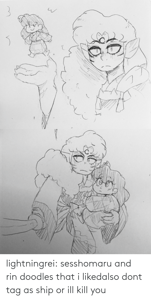 Kill You: lightningrei:  sesshomaru and rin doodles that i likedalso dont tag as ship or ill kill you