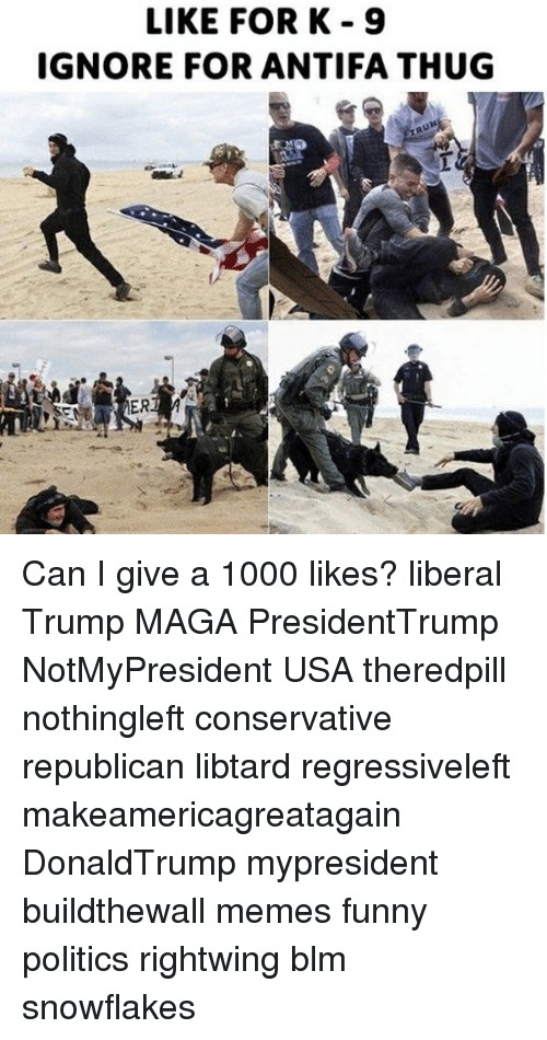 LIKE FORK 9 IGNORE FOR ANTIFA THUG Can I Give a 1000 Likes