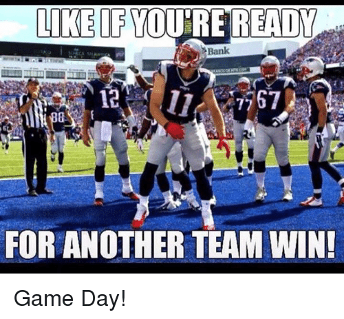Game Day: LIKE IF YOU RE READW  Bank  12 7767  FOR ANOTHER TEAM WIN! Game Day!