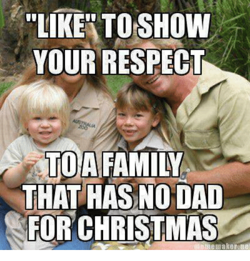 Memes, 🤖, and Maker: LIKE TO SHOW  YOUR RESPECT  A FAMILY  THAT HAS NODAD  FOR CHRISTMAS  meme maker