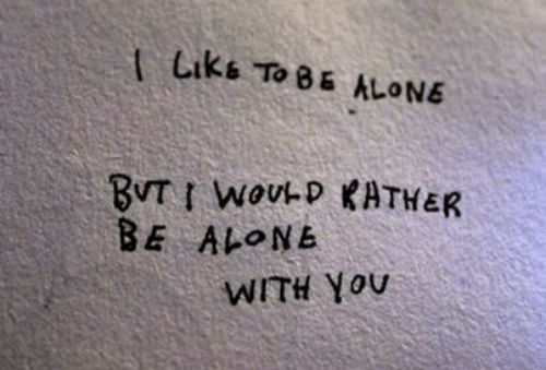 Being Alone, You, and Liks: Liks ToB5 ALONE  BE ALONE  WITH You