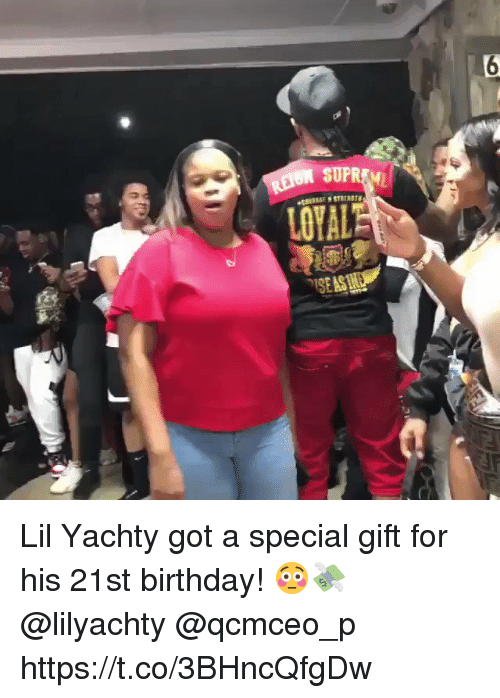 Birthday, 21st Birthday, and Got: Lil Yachty got a special gift for his 21st birthday! 😳💸 @lilyachty @qcmceo_p https://t.co/3BHncQfgDw